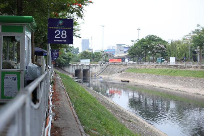 Quãng sông Tô Lịch thí điểm của dự án đã có sự giảm thiểu rõ rệt về mùi hôi.