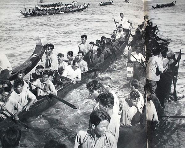 Lễ hội đua thuyền ở Nam Bộ.