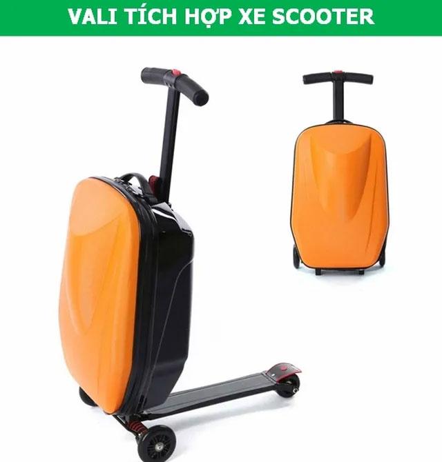 Vali tích hợp xe scooter