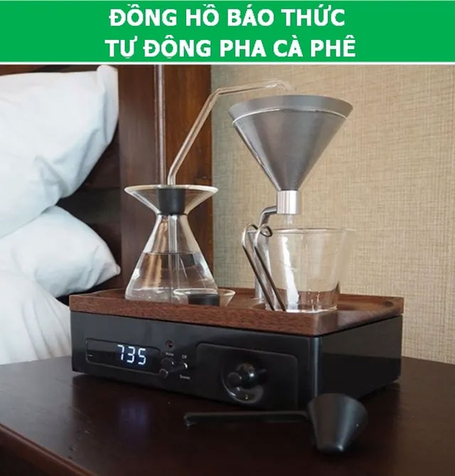 Đồng hồ báo thức tự động pha cà phê