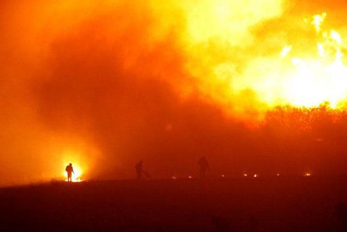 Trận cháy rừng kinh hoàng ở khu vực O'Higgins, Nam Chile vào tháng 1/2017.
