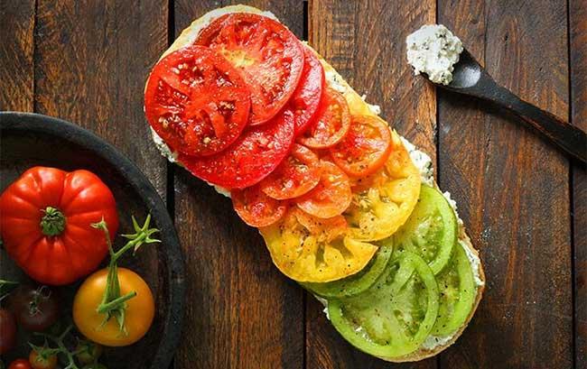 Màu sắc của cà chua có liên quan đến mức độ chống ôxy hóa của chúng.