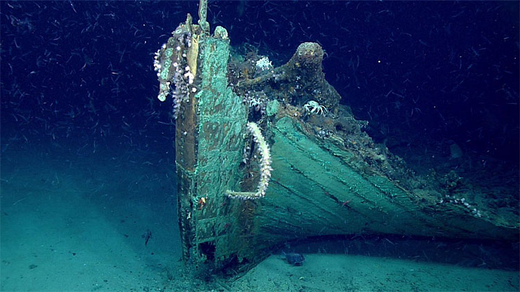 Xác tàu đắm dưới vịnh Mexico