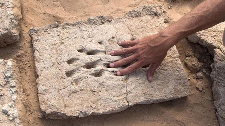 Dấu vân tay trên những viên gạch tại UAE.