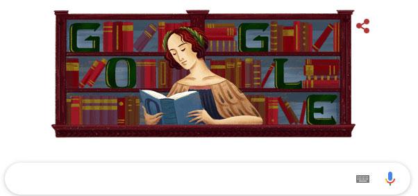 Biểu tượng của Google doodles nhân kỷ niệm 373 năm ngày sinh của Elena Cornaro Piscopia.