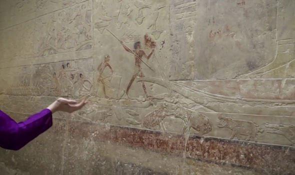 Hình ảnh cho thấy việc đánh bắt cá trên sông Nile của người Ai Cập cổ đại.