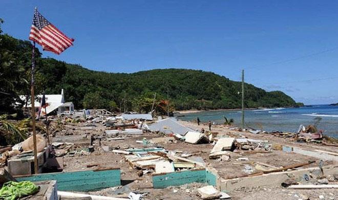 Hình ảnh sau trận động đất ở Samoa-Tonga năm 2009.