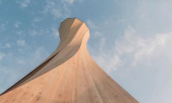 Tòa tháp Urbach là bằng chứng về một dạng kiến trúc tự định hình