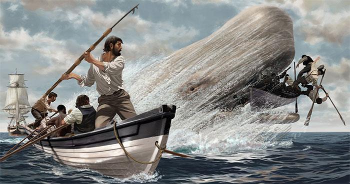 Hình mẫu Moby Dick trong tiểu thuyết của đại văn hào Herman Melville.