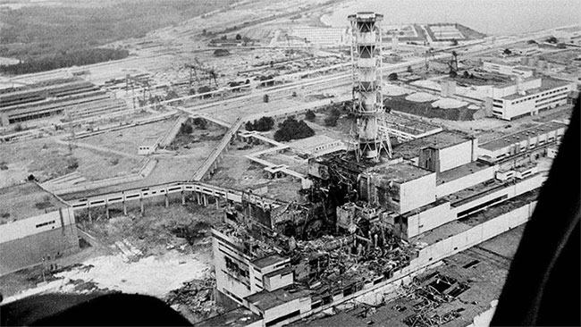 Hiện trường nhà máy tại Chernobyl.