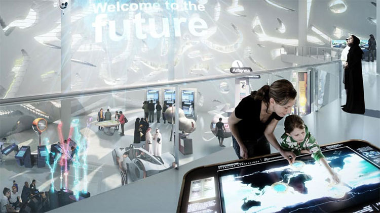 Tại Bảo tàng Tương lai, ba trong số 7 tầng sẽ là nơi mà khách có thể trải nghiệm không gian ba chiều