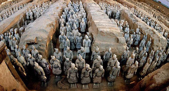 Bên trong lăng mộ của Tần Thủy Hoàng.