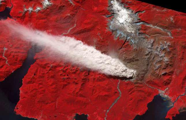 Núi lửa Chaiten ở Chile tháng 5/2008.