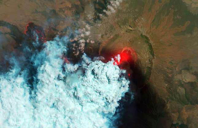 Núi lửa Nabro ở Eritrea phun trào tháng 6/2011.