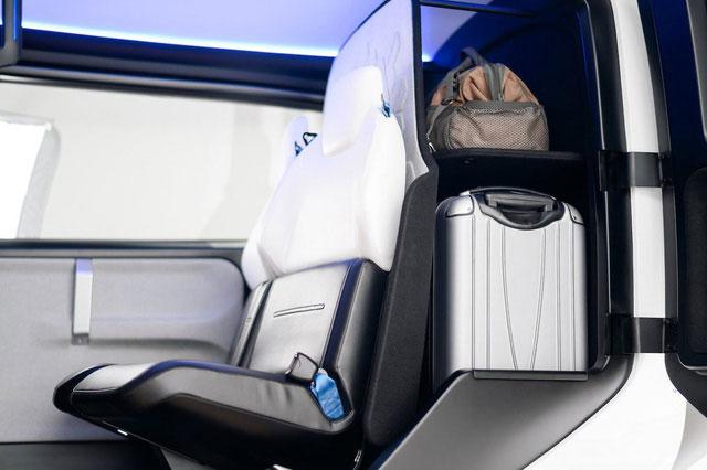 Chỗ để hành lý của hành khách.