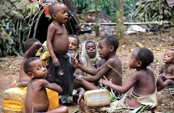 Hơn một nửa số trẻ em thuộc bộ lạc Baka chỉ sống được đến 5 tuổi.