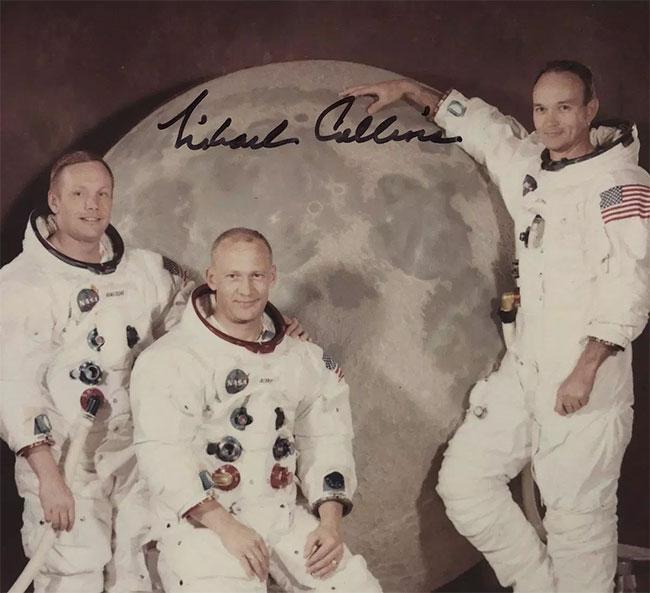 Bức ảnh do Michael Collins mới tìm thấy về các phi hành gia tàu Apollo 11.