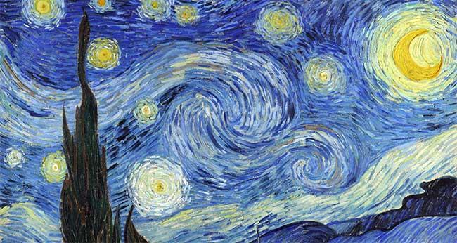 """Bức tranh """"Đêm đầy sao"""" của Van Gogh."""