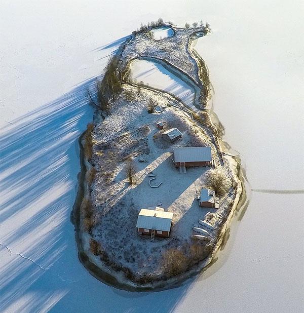 Mùa đông trên đảo Kotasaari