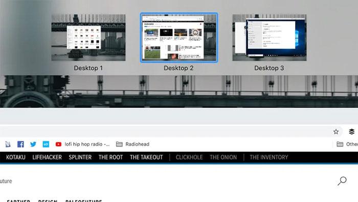 Mở rộng không gian làm việc với nhiều desktop
