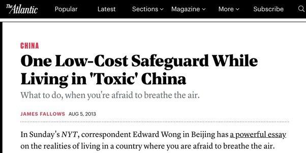 Một ngày đẹp trời, tôi thấy tờ The Atlantic lên bài về máy lọc không khí bé nhỏ của tôi.