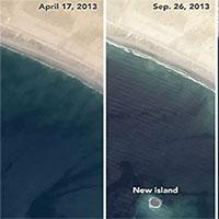 """Hòn đảo bị đại dương """"nuốt chửng"""" ngoài khơi Pakistan"""