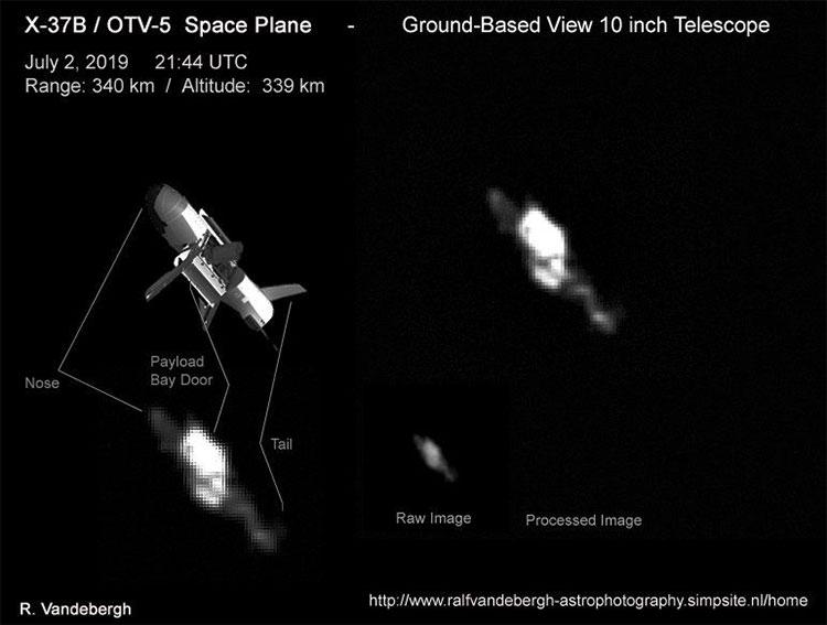 Hình ảnh X-37B hoạt động trên quỹ đạo.
