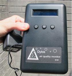 Thiết bị đo hạt bụi trong không khí bằng tia laser