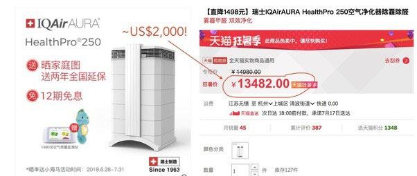 Giá của một chiếc máy lọc không khí