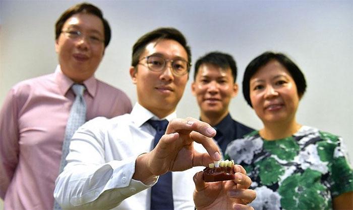 Trung tâm Nha khoa Quốc gia Singapore phát triển chân răng in 3D.