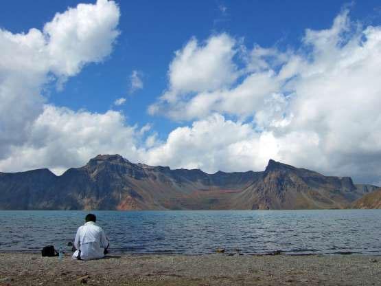 Một góc của hồ Thiên đường.