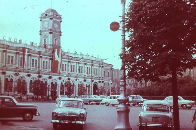 Nhà ga Moscow ở Leningrad năm 1968.