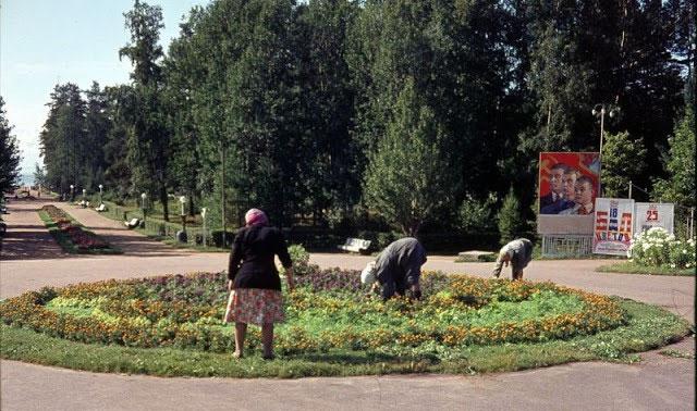 Cảnh tượng trong một công viên ở Zelenogorsk, Leningrad vào năm 1963.