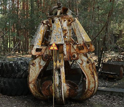 Chiếc móng vuốt sử dụng để dọn dẹp rác thải phóng xạ ở nhà máy Chernobyl.