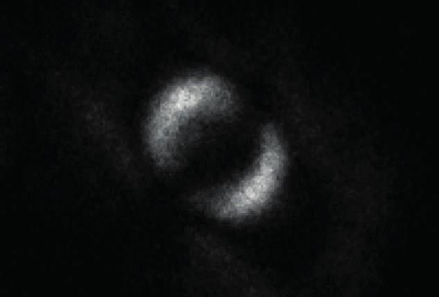 Hình ảnh hiện tượng rối lượng tử do các nhà khoa học từ Đại học Glasgow thu được.
