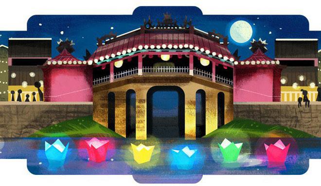 Hình ảnh Hội An xuất hiện đầy quyến rũ cùng ánh Trăng trên trang chủ Google Việt Nam ngày 16/7/2019.