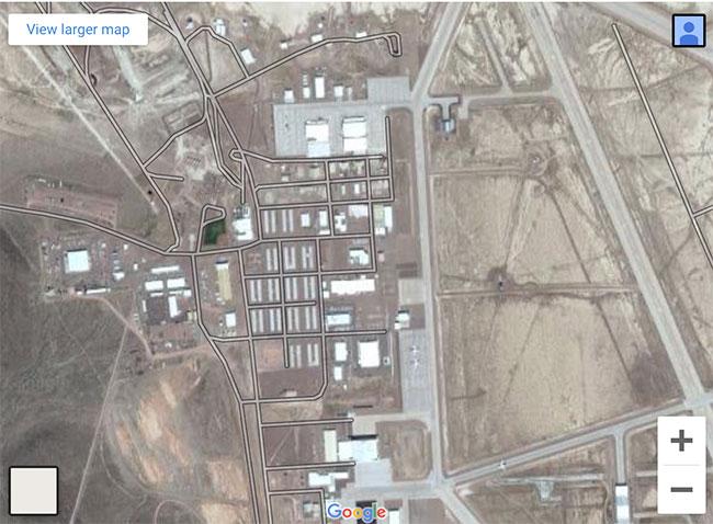 """Hình ảnh về """"Vùng 51"""" có thể lấy được từ Google Map."""