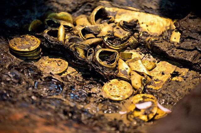 Dù ngập nước, nhưng chất lượng của nhiều cổ vật vẫn gần như nguyên vẹn sau hơn 2.000 năm.