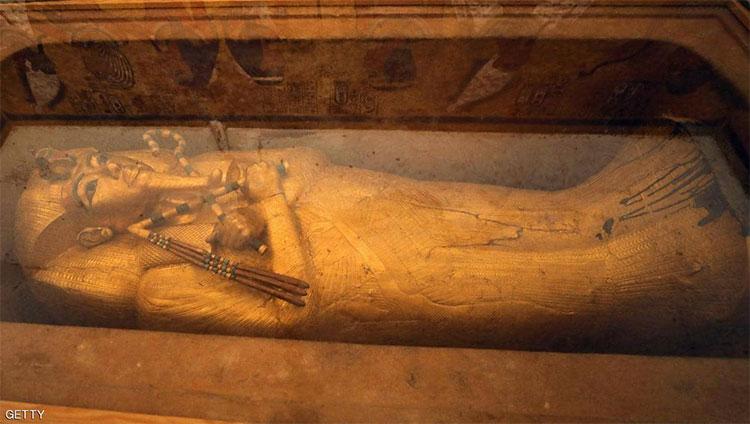 Đây là chiếc quan tài lớn nhất và cũng là duy nhất còn lại trong lăng mộ pharaoh Tutankhamun.