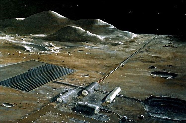 Phác thảo một khu vực mà NASA muốn xây trên Mặt trăng để tìm kim loại quý - (ảnh: NASA).