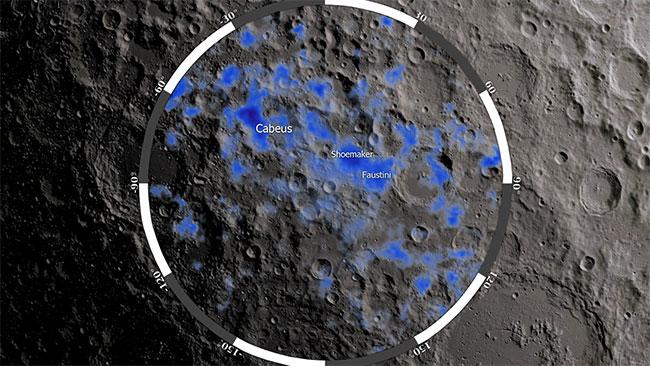 NASA tin rằng nam cực của Mặt trăng có thể đang chứa nước.