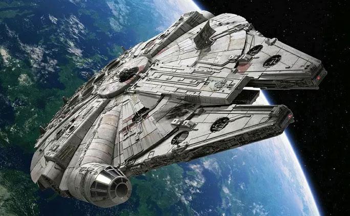 Chiếc tàu vũ trụ nổi tiếng trong phim Star Wars.