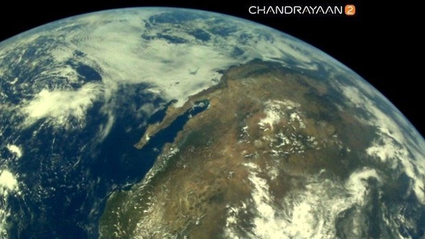 Hình ảnh được tàu Chandrayaan-2 gửi về.