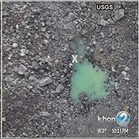 Hồ nước xanh ở đáy miệng núi lửa hoạt động mạnh nhất Hawaii