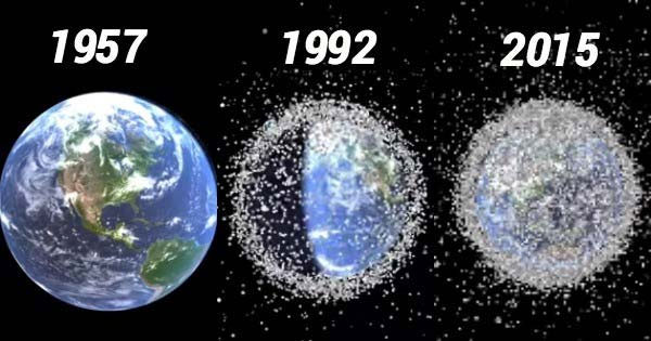 Lượng rác thải dày đặc trong Quỹ đạo Trái đất sau hơn 50 năm con người khám phá không gian.