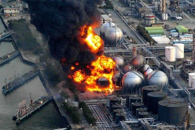 Vụ nổ lò phản ứng tại nhà máy điện hạt nhân Fukushima do sóng thần gây ra hồi năm 2011