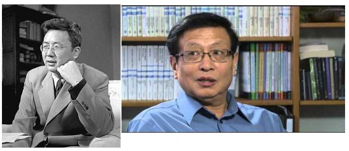 Hai nhà toán học Trung Quốc nổi tiếng Hua LuoGeng (trái) và Zhang YiTang (phải).