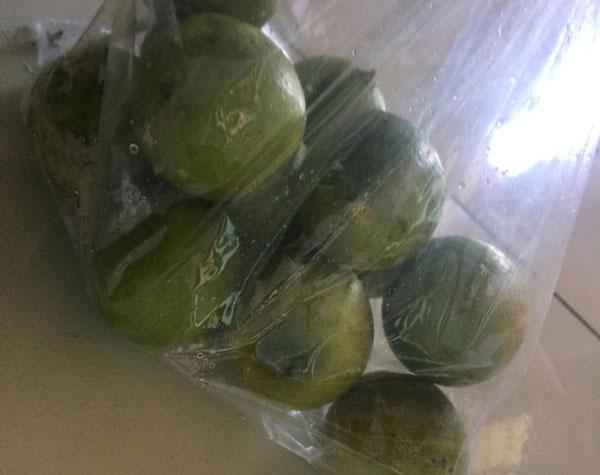 Túi dùng để đựng và bảo quản trái cây trong điều kiện bình thường.