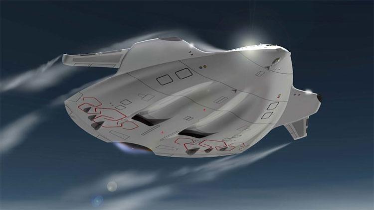 Mẫu Magnavem (chim khổng lồ) là máy bay siêu bội âm có lò phản ứng tổng hợp hạt nhân mini.