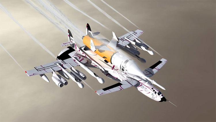 Mẫu MKS-1 SLS có 11 động cơ.